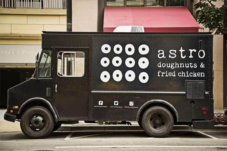 Food Truck Landing Astro Doughnuts Fried Chicken Astro